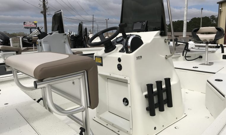 Excel 18' Aluminum Bay Boat Leaning Post and Center Console
